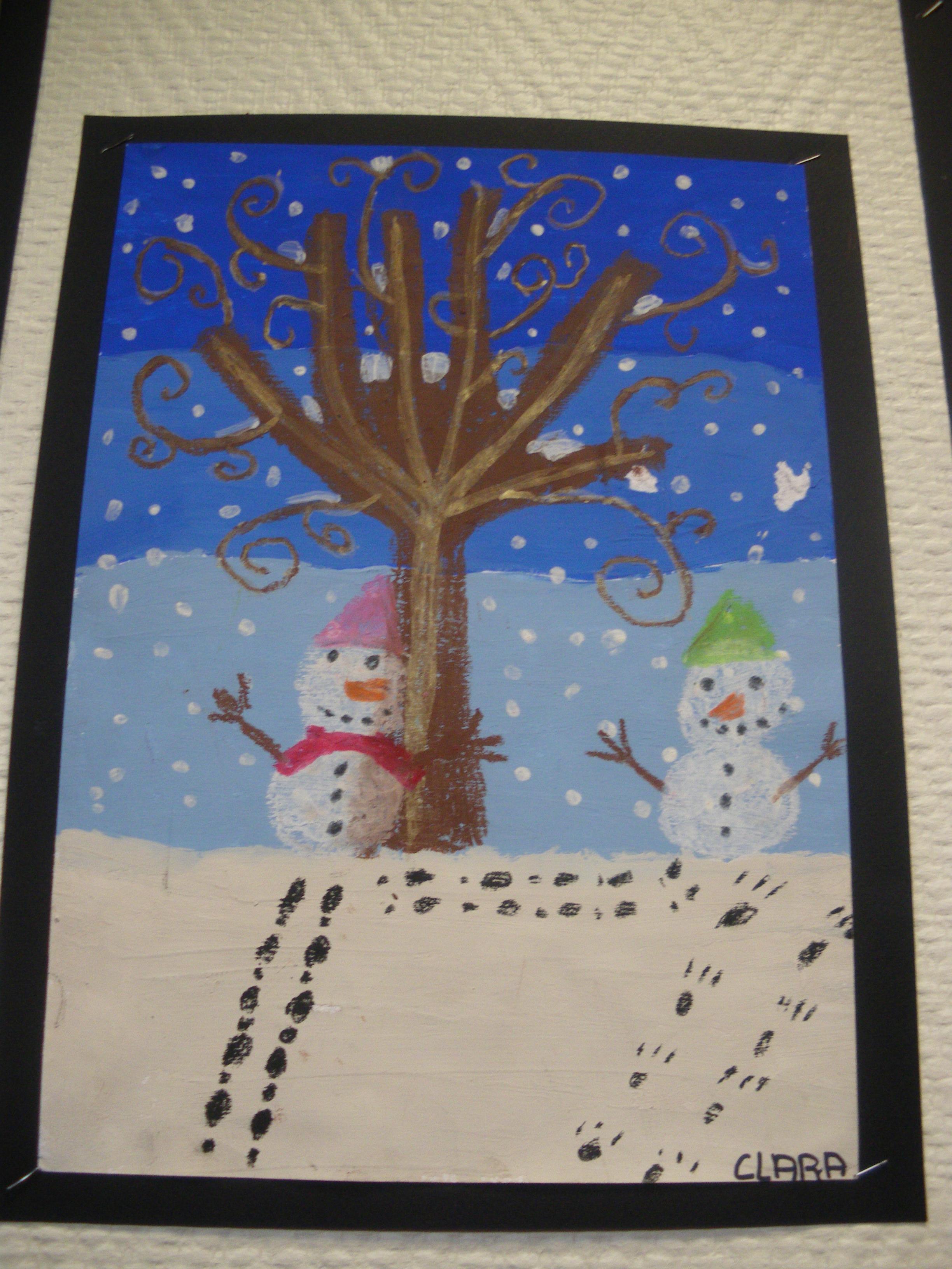 Decoration hiver maternelle for Decoration fenetre maternelle